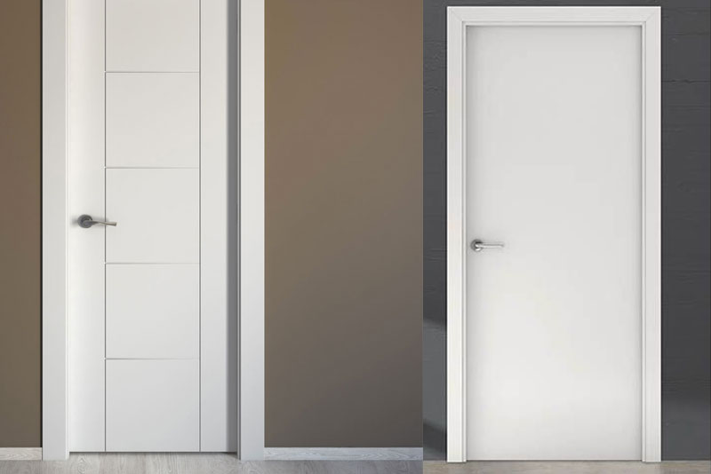 Puerta melamina blanca